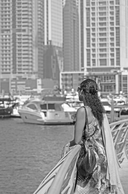 Girl at Dubai Marina